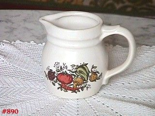 """McCOY POTTERY -- SPICE DELIGHT SMALL 4"""" TALL PITCHER OR CREAMER"""