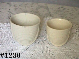 McCOY POTTERY -- SET OF VINTAGE WHITE JARDINIERES