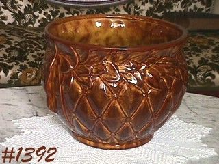 McCOY POTTERY -- LEAVES AND DIAMONDS JARDINIERE