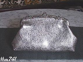 VINTAGE PLASTIC EVENING BAG -- WITH RHINESTONES!