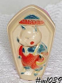 VINTAGE CELLULOID BABY RATTLE / TOY FOR DISPLAY ONLY!!!