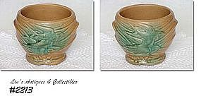 "McCOY POTTERY -- FLYING SWALLOWS JARDINIERE (4 1/8"")"