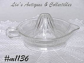 FEDERAL GLASS -- CLEAR GLASS REAMER (JUICER)
