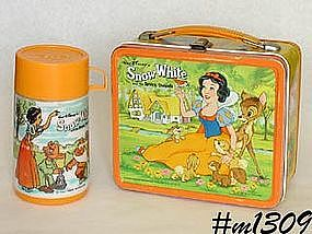ALADDIN -- SNOW WHITE LUNCH BOX AND THERMOS