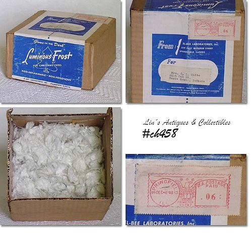 """VINTAGE """"LUMINOUS FROST"""" FOR CHRISTMAS TREES"""