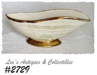 McCOY POTTERY -- HARMONY LINE PLANTER WITH GOLD TRIM