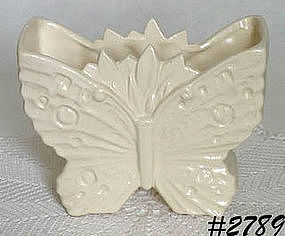 McCOY POTTERY -- BUTTERFLY SHAPED VASE (WHITE)