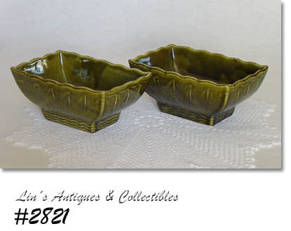 McCOY POTTERY -- PAIR OF MATCHING PLANTERS IN MINT CONDITION