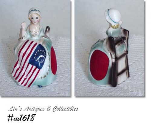 ENESCO -- BETSY ROSS SEWING LADY