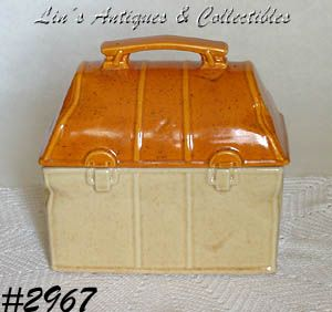 McCOY POTTERY -- LUNCHBOX COOKIE JAR