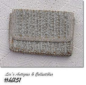 GOLD AND SILVER BEADED EVENING BAG