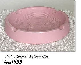 SHAWNEE POTTERY -- LARGE ASHTRAY (PINK)
