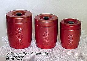 ALUMINUMWARE -- 3 PIECE CANISTER SET FOR THE BIRDS!!