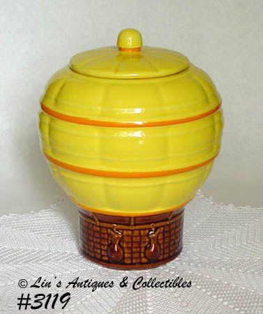McCOY POTTERY -- HOT AIR BALLOON COOKIE JAR