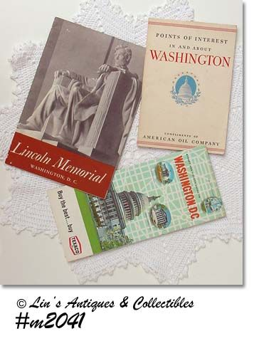 WASHINGTON D.C. MAP AND BOOK, LINCOLN MEMORIAL LEAFLET