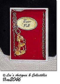 VINTAGE POODLE ZIPPER PULL STILL IN THE ORIGINAL BOX