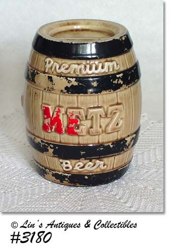 McCOY POTTERY -- METZ BREWING COMPANY BANK