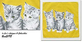 HANDKERCHIEF -- THREE LITTLE KITTENS