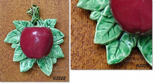 McCOY POTTERY -- RED APPLE WALL POCKET