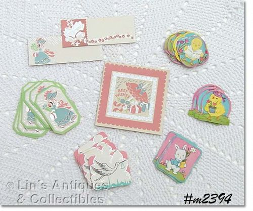VINTAGE HOLIDAY AND SHOWER STICKERS/SEALS