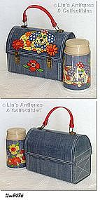 """""""DENIM DINER"""" DOME LUNCH BOX WITH THERMOS"""