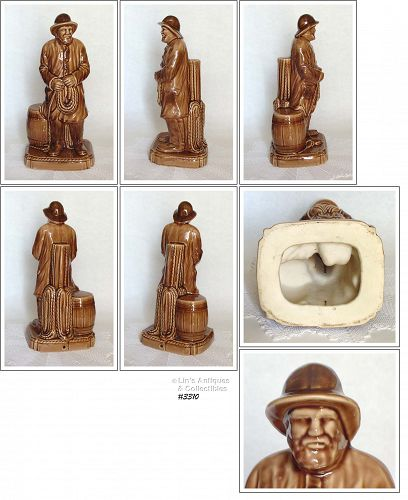McCOY POTTERY -- WHALING MAN LAMP BASE
