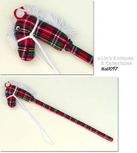 CHRISTMAS STICK HORSE (NEW OLD STORE STOCK)