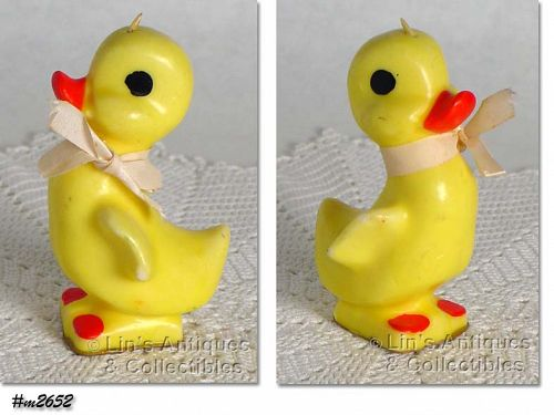 GURLEY YELLOW DUCK CANDLE