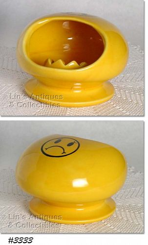 McCOY POTTERY -- UNHAPPY NOT SMILEY FACE ASHTRAY
