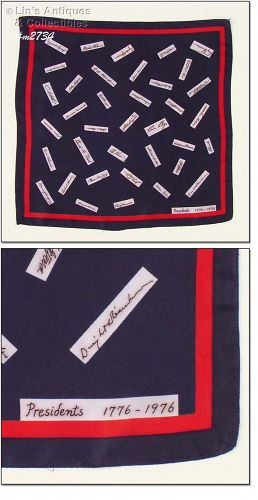"SCARF WITH PRESIDENTIAL ""SIGNATURES"""