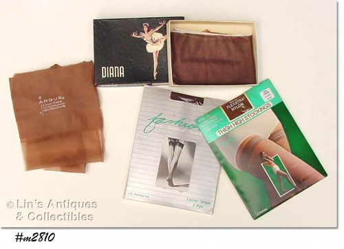5 PAIRS VINTAGE NYLONS/STOCKINGS BY ARGUS, GAYMODE, and Others