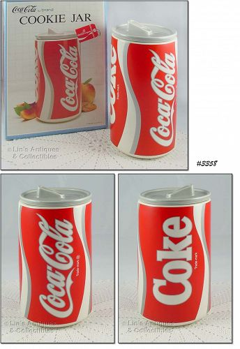 McCOY POTTERY – COKE CAN COOKIE JAR WITH BOX