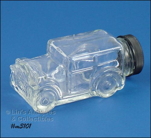 1929 MODEL CAR GLASS CANDY CONTAINER