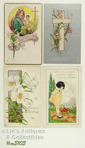 FOUR EASTER POSTCARDS