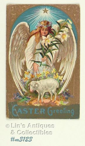 EASTER POSTCARD WITH ANGEL
