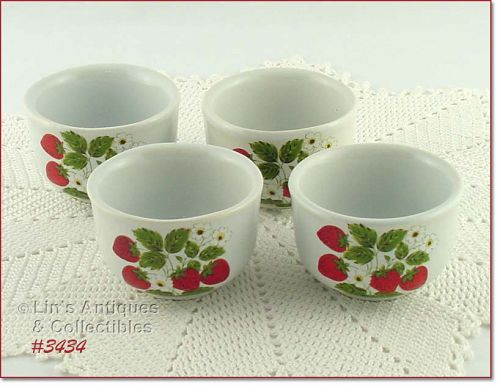 McCOY POTTERY – STRAWBERRY COUNTRY CUSTARDS (4)