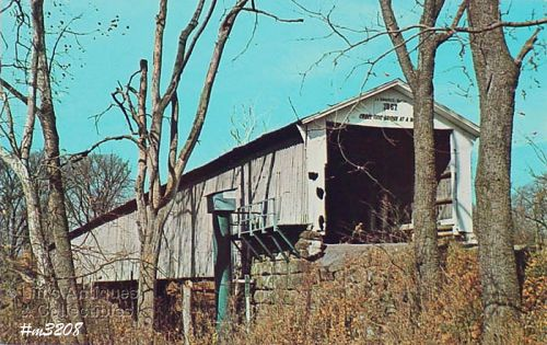 POSTCARD – COVERED BRIDGE, PARKE COUNTY, INDIANA, No. 5