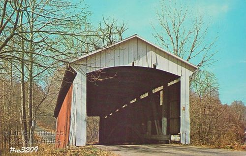 POSTCARD – COVERED BRIDGE, PARKE COUNTY, INDIANA, No. 6