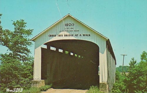 POSTCARD –COVERED BRIDGE, PARKE COUNTY, INDIANA, No. 14