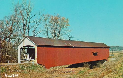 POSTCARD –COVERED BRIDGE, PARKE COUNTY, INDIANA, No. 15