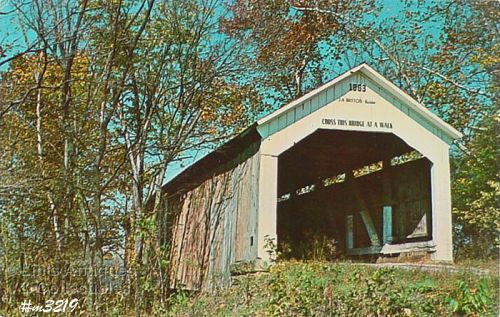 POSTCARD –COVERED BRIDGE, PARKE COUNTY, INDIANA, No. 23