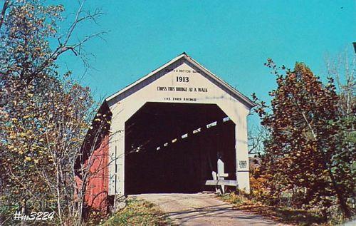 POSTCARD –COVERED BRIDGE, PARKE COUNTY, INDIANA, No. 36