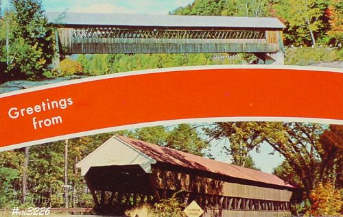 POSTCARD – COVERED BRIDGE POSTCARD