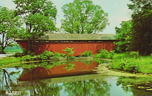 POSTCARD – TRADERS POINT COVERED BRIDGE