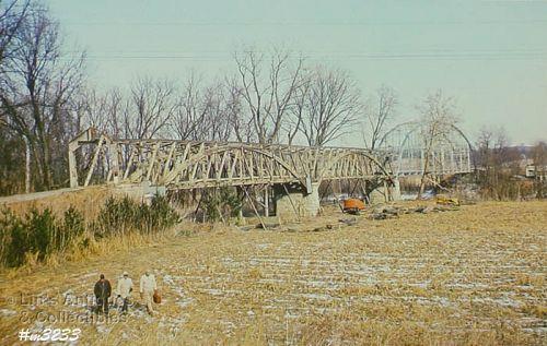 COVERED BRIDGE POSTCARD – DISMANTLING OF FREEDOM COVERED BRIDGE