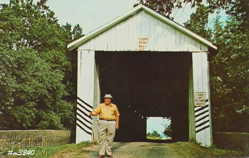 POSTCARD – COVERED BRIDGE, GIBSON COUNTY, INDIANA