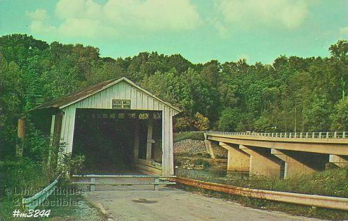 COVERED BRIDGE POSTCARD – DEER'S MILL BRIDGE