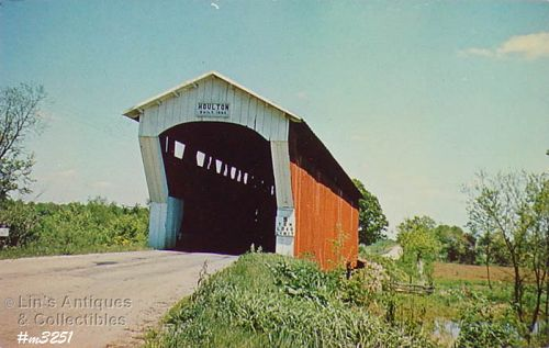 POSTCARD – COVERED BRIDGE, DE KALB COUNTY, INDIANA