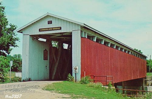 POSTCARD – COVERED BRIDGE, GRANT COUNTY, INDIANA