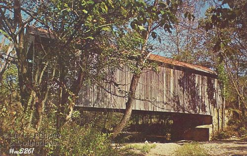 POSTCARD – COVERED BRIDGE, PARKE COUNTY, INDIANA